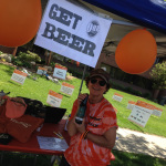 Team N3kk1d's Beer Raffle Tent at West Michigan Bike MS 2015